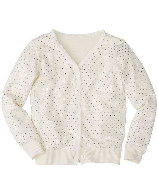 Girls Dot Print Cardigan by Hanna Andersson