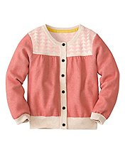 Girls Geo Jacquard Cardi by Hanna Andersson