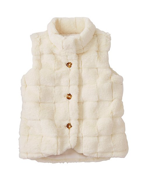 Girls All Fur It Vest by Hanna Andersson