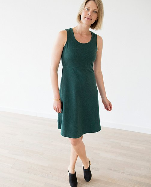 Women Right Now Dress In French Terry by Hanna Andersson