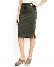 Women's Straight Skirt In French Terry by Hanna Andersson