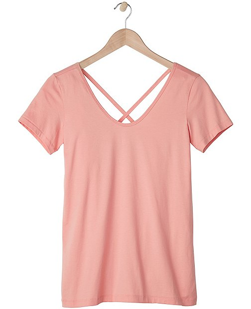 Women's Crossback Pima Tee by Hanna Andersson