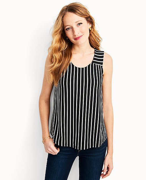 Stripe Tank In Stretch Jersey by Hanna Andersson