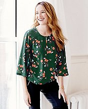 Women's Flowy Crêpe Popover  by Hanna Andersson