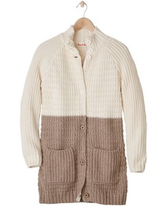 Heritage Sweater Coat In Cotton & Merino by Hanna Andersson