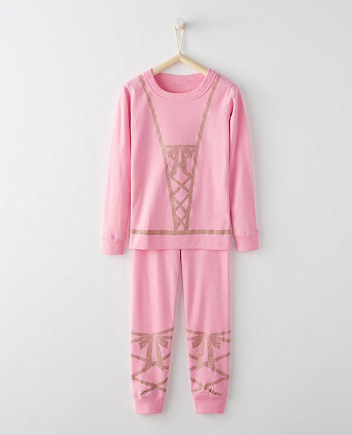 Kids Glow In The Dark Long John Pajamas In Organic Cotton by Hanna Andersson