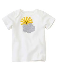 Baby Appliqué Tee In Organic Cotton by Hanna Andersson