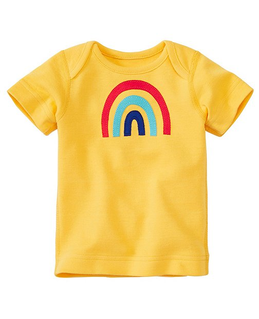 Baby Get Appy Appliqué Tee In Organic Cotton by Hanna Andersson
