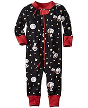 Peanuts Night Night Baby Sleepers In Pure Organic Cotton by Hanna Andersson