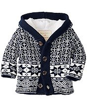 Baby Sherpa Lined Sweater Jacket by Hanna Andersson