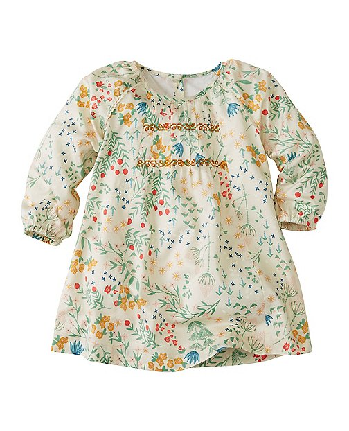 Baby Flora Dress In Cotton Sateen by Hanna Andersson