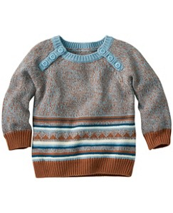 Baby Comfy Cotton Popover Sweater by Hanna Andersson