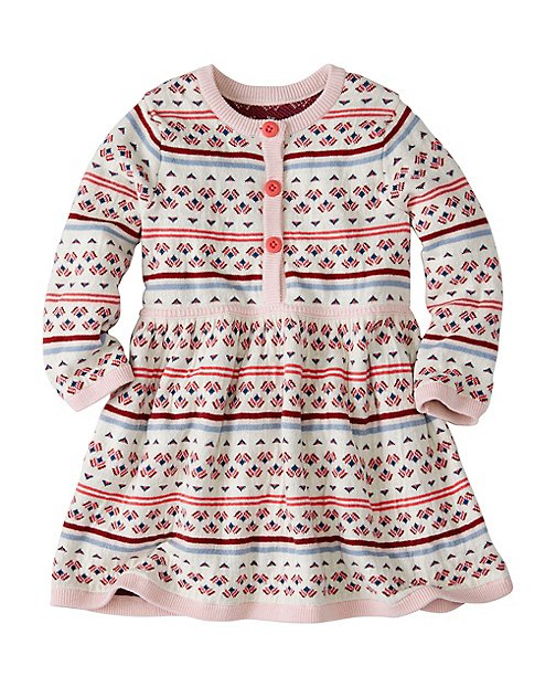 Baby Soft Fair Isle Sweater Dress by Hanna Andersson