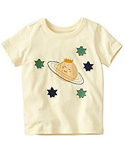 Toddler Get Appy Appliqué Tee In Supersoft Jersey by Hanna Andersson