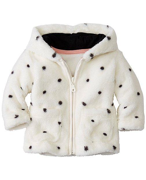 Marshmallow Polka Dot Jacket by Hanna Andersson