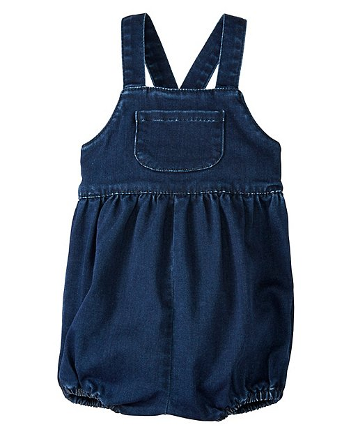 Baby Bloomer Overalls In Stretch Denim by Hanna Andersson