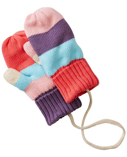 Baby Stripey Mouse Mittens by Hanna Andersson