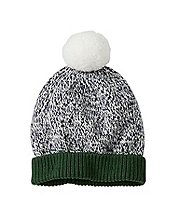 Baby Marled Cotton Snowball Hat  by Hanna Andersson