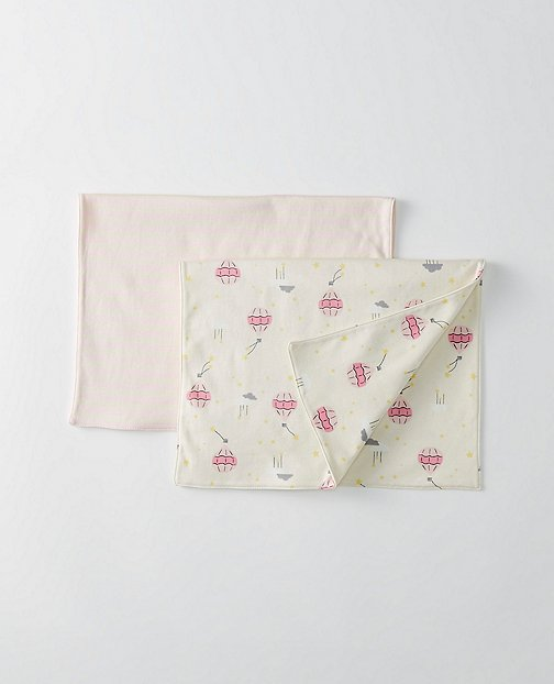 Baby Burp Cloth 2 Pack In Organic Pima Cotton by Hanna Andersson