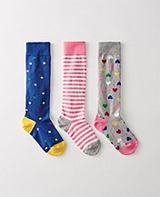 Girls Pitter Pattern Knee Socks 3 Pack by Hanna Andersson