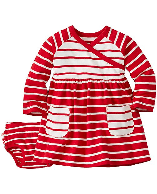 Stripe Happy Crossover Dress Set by Hanna Andersson