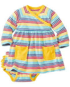 Baby Stripe Happy Crossover Dress Set by Hanna Andersson