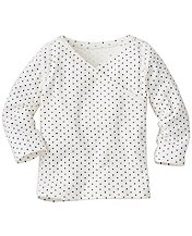 Baby First Layer Crossover Tee In Organic Cotton by Hanna Andersson