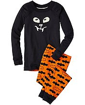 Kids Glow In The Dark 3-D Long John Pajamas In Organic Cotton by Hanna Andersson