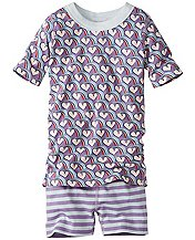 Girls Short John Pajamas In Organic Cotton  by Hanna Andersson