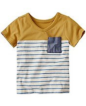 Baby Colorblock Tee In Supersoft Jersey by Hanna Andersson