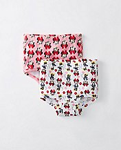 Disney Minnie Mouse Girls Classic Unders 2 Pack In Organic Cotton by Hanna Andersson