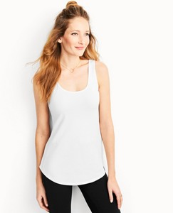 Women's Luxe Pima Curved Hem Tank by Hanna Andersson