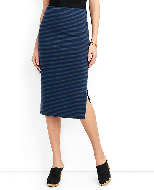 Women's Metro Zip Midi Skirt by Hanna Andersson