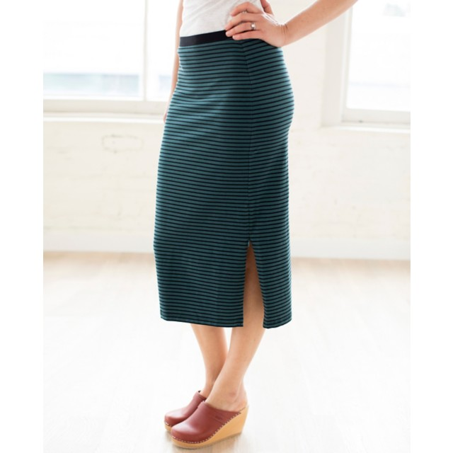 Women Metro Zip Midi Skirt by Hanna Andersson