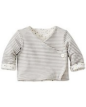 Baby Quilted Reversible Crossover Jacket In Organic Pima Cotton by Hanna Andersson