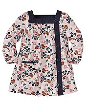 Baby Folk Bird Button Front Dress by Hanna Andersson