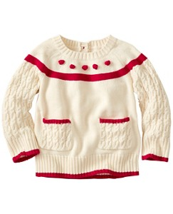 Baby Pocket & Pom Cable Sweater by Hanna Andersson