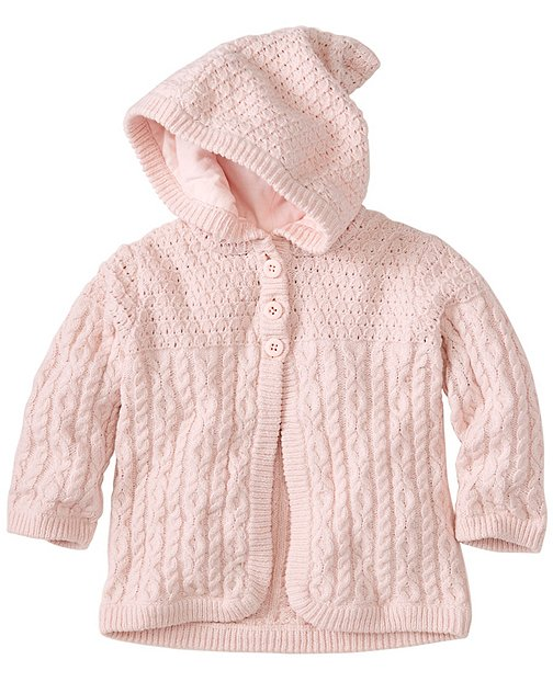 Baby Lilla Rosa Cable Cardigan by Hanna Andersson