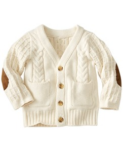 Baby Cable Cozy Little Guy Cardigan by Hanna Andersson