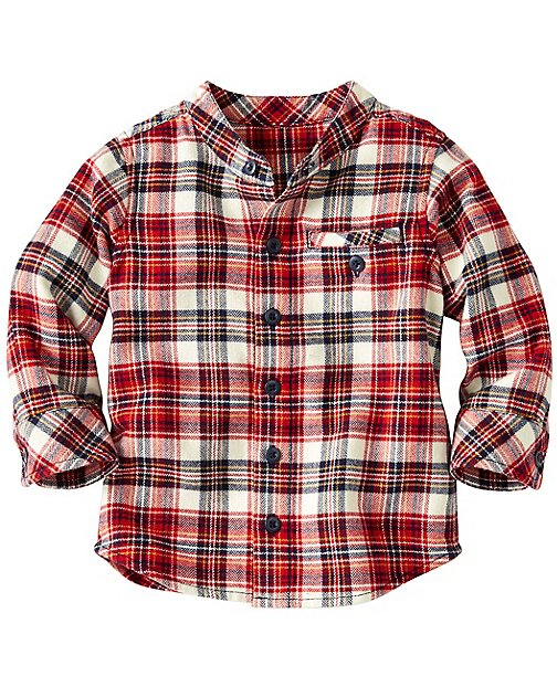 Baby Up North Shirt In Supersoft Flannel by Hanna Andersson
