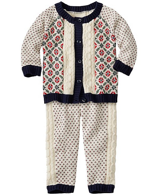 Baby Snowy Nordic Sweater Set by Hanna Andersson