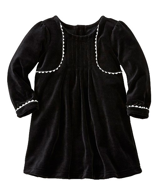Baby Ric-Rac Dress In Softest Velour by Hanna Andersson