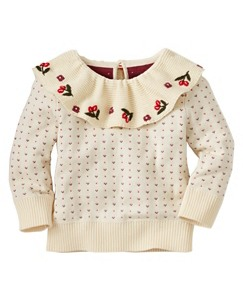 Baby Flower Vine Sweater by Hanna Andersson