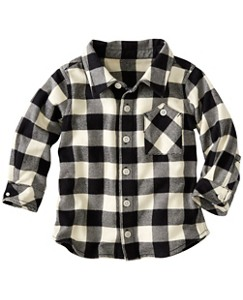 Baby Buffalo Check Shirt In Supersoft Flannel by Hanna Andersson