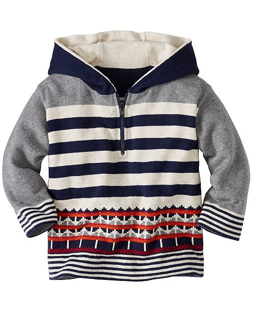 Toddler Reversible Sweater Hoodie by Hanna Andersson