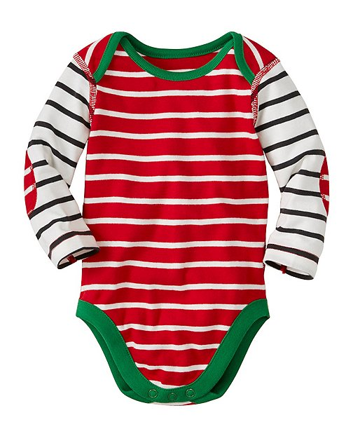 Baby Stripe Happy One Piece In Organic Cotton by Hanna Andersson