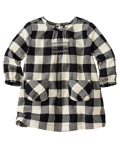 Baby Buffalo Check Dress In Supersoft Flannel by Hanna Andersson