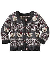 Baby Bear Hugs Buttonfront Cardigan by Hanna Andersson