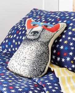 Superhero Bear Pillow by Hanna Andersson