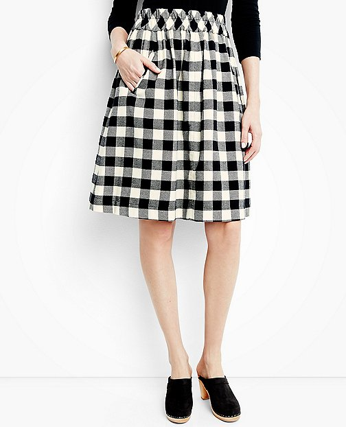 Women's Buffalo Check Skirt In Supersoft Flannel by Hanna Andersson